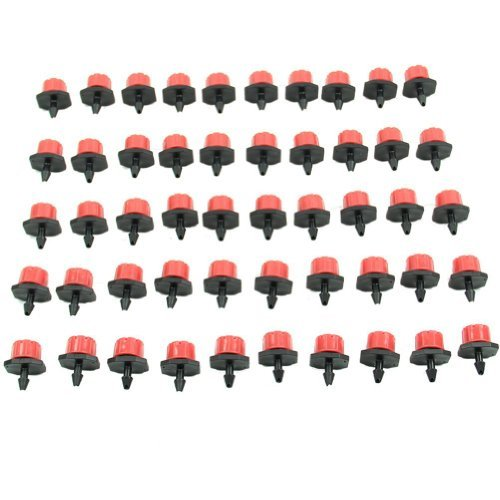 50 pcs Jardin d'irrigation Brumisateur Micro Flux Goutteur Drip Head 1/10,2 cm pour tuyau d'arrosage