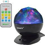 SOAIY LED Farbwechsel Nachtlicht-Lampe mit Projekt