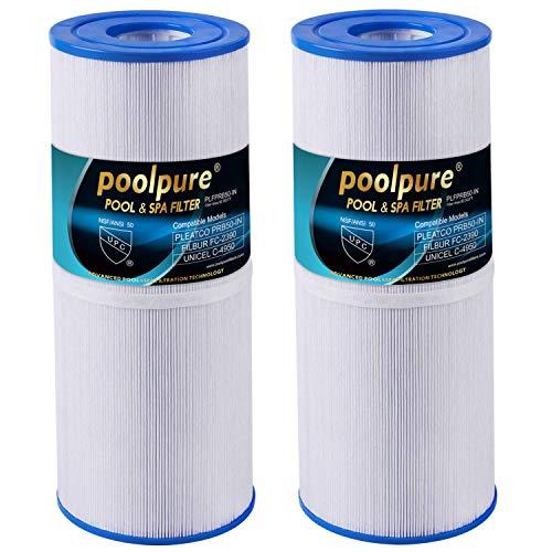 poolpure Spa Filter Hot Tub Filter Kompatibel mit Pleatco PRB50-IN, PRB501N, Unicel C-4950, Filbur FC-2390, Dynamic 03FIL1600, Pentair R173434, 50 m² Spa-Filterpatrone 5 x 13 -