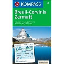 Breuil, Cervinia, Zermatt: 1 : 50 000. Wander-, Bike- und Skitourenkarte. Carta escursioni, bike e sci alpinismo
