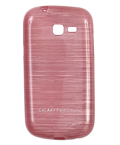 iCandy Soft TPU Shiny Back Cover for Samsung Galaxy Trend GT S7392 - Pink  available at amazon for Rs.99