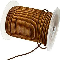 Cordón de cuero 2mm de diámetro–marrón–Precio–megacrea