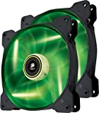 Corsair CO-9050037-WW Air Series SP140 LED 140mm Low Noise High Pressure LED Fan Dual Pack, Green