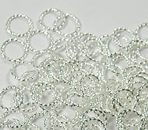 300 Jump Rings, Silver-plated Brass, 10mm Twisted Round, 16 Gauge Open Jewelry Connectors Chain Links Sold Per Pkg of 300