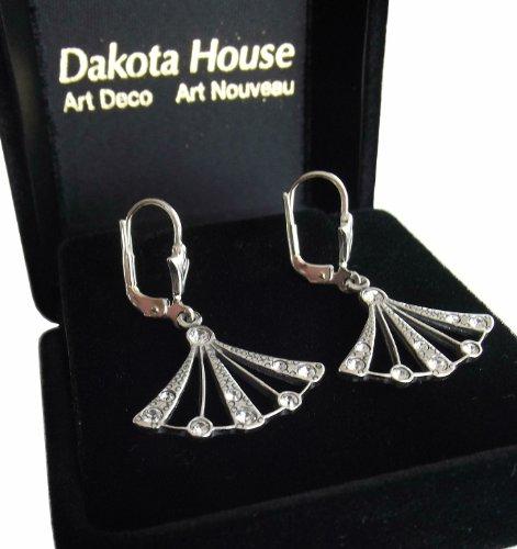 Damen Ohrringe 925 Silber Swarovskikristalle Zwanziger Jahre - 2