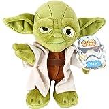 Star Wars Kuscheltier Yoda Jedi-Meister Yoda ist jetzt zum Kuscheln und Dekorieren da! Er besteht aus weichem Material und mit seiner praktischen Größe kann man ihn überall hin mitnehmen. Diese Figur ist nicht nur ein beliebtes Geschenk für Star Wars-Fans, sondern auch für alle Kuscheltierliebhaber.
