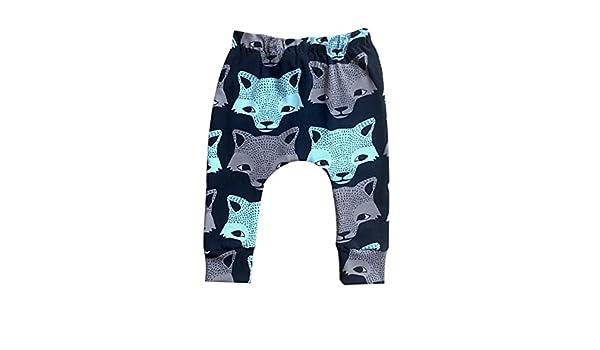 puseky Infant Baby Boy Girl Animal Wolf Print Harem Pants Long Crawling Trousers