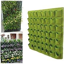 RC-Angel interior y exterior para pared balcón maceta colgante, hierbas jardín Vertical bolsa verde, 56 Pockets