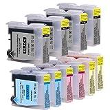 Sparset für Brother MFC 235 C (10 Patronen, 4x22ml, 6x20ml) kompatible Druckerpatronen für MFC235