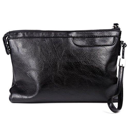 ZOONAI Men's Clutch Bag Purse leather Evening Wristlet Handbag Organizer Wallet