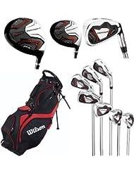 Wilson Prostaff HL Herren Komplettes Golfschläger Set & Prostaff Ständer Tasche Stahlschaft Aus Graphit Rechtshänder