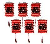 Lanterne di carta cinesi per capodanno, confezione da 12 pezzi, diametro 10 cm, rosse