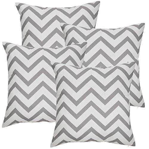 Avanzza 2 x Fodere per cuscino, 50 x 50 cm, colore: grigio