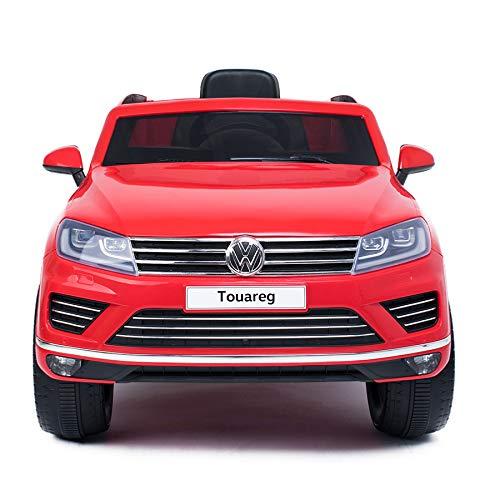 cristom 4x4 électrique 12V pour Enfant Volkswagen Touareg avec telecommande Parental (Rouge)