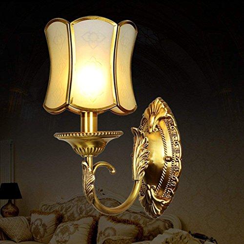 Jiaa Home Decor Produkte mit modernen und Stilvollen Aussehen Design Wandleuchte passend Schlafzimmer voller Kupfer Home Gang Licht Korridor Wand Strahler,1T -