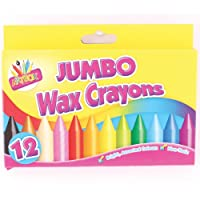 ARTBOX 12 jumbo size wax crayons set of 12 assorted colours