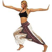 Gusspower Pantalones Yoga de Linterna Deportivas Impresión Mujer Fitness Leggins Pilates Mujer Estilo étnico Vintage