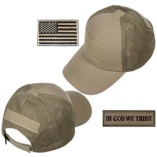 xhorizon TM FM8 Männer Mesh Tactical Cap Sport Baseball Military Camouflage Sun Hat Cap mit USA Flag Patch / Words (Usa Passt)