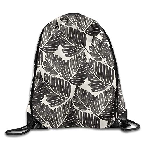 Dhrenvn Black and White Palm Leaves A Backpack Design Luxurious Nice