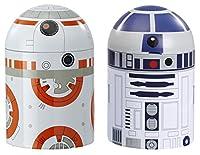 - Set 2 boites de rangement Star Wars - Droid R2D2 et BB-8 - Matière Métal - Vendu sous window box - Taille 20cm