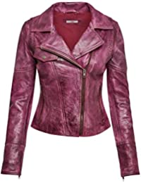 Joe Browns Womens Off Centre Zip Up Joe's Leather Jacket