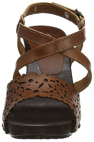 Joe Browns Damen Bargello Leather Sandals Riemchensandalen Braun (Tan)