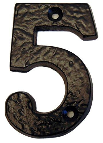 Schwere 7,7 cm (77 mm) Dicke Rustikal Schwarz Schmiedeeisen Gusseisen Antik-House Tür/Tor Zahlen 0,5 cm (5 mm) Dick -