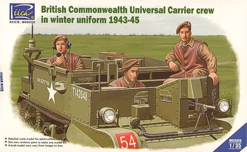 RIICH MODELS rv35028 - Figura British commenwe alth Universal Carrier Crew en Invierno Uniforme 1943 - 45
