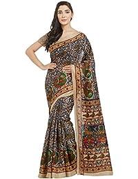 Florence Multicoloured Bhagalpuri Silk Printed Saree With Blouse(FL-12323)
