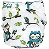 Baby Cloth Diapers Adjustable Reusable Washable For Baby Girls And Boys By ZHCH (Owl)