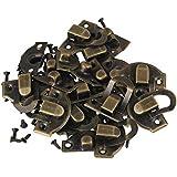 BQLZR Mini antiguo candado cierre de joyas caja de madera caja hebilla Grillete Lock Pack de 10
