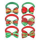 Mwoot 6 Pezzi Collarino Gatto per la Decorazione di Natale, Collare Natalizio per Cucciolo e Gattino