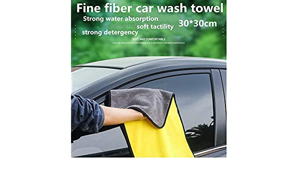 HWZ 3030CM 500G Car Wash Microfiber Towel Car Cleaning Drying Cloth Hemming Car Care Cloth Detailing Car Wash Towel