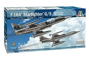 Italeri 2514S 2514S-1:32 F-104G/S-RF-104G - Maqueta de Caza Estelar (montada, Montaje de Modelos, Manualidades, aficiones, Pegamento, Kit de Montaje de plástico, sin lacar)