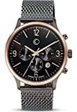C-Collection Herren-Armbanduhr Analog Quarz One Size, anthrazit, schwarz