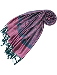 LORENZO CANA Designer Pashmina hochwertiger Marken-Schal jacquard gewebtes Paisley Muster 70 x 180 cm Modal harmonische Farben Schaltuch Schal Tuch 93286
