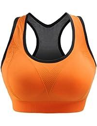 04ea7c2d9557b Libella Brassière Sport Bra Femme Sportbra Soutien-Gorge de Sport Sans  Armature Fitness Jogging Yoga