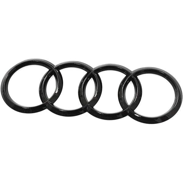 Audi 4m8071802 Zeichen Heckklappe Ringe Black Edition Emblem Blackline Logo Schwarz Auto