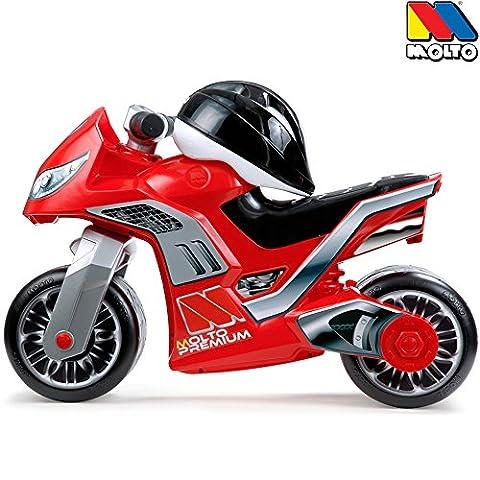Rutschermotorrad mit Helm, rot, breite Reifen, für Innen und Außen, 73 cm: Laufrad Kinder Motorrad Roller Lernlaufrad Helm Kinder Bike Lauflernrad Fahrrad