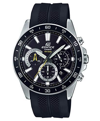 Casio Edifice Herren Massives Edelstahlgehäuse und Resinarmband Uhrenarmband EFV-570P-1AVUEF