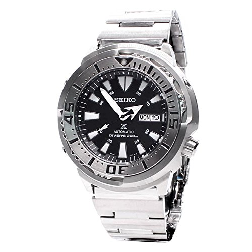 seiko-mens-quartz-watch-with-black-dial-analogue-display-and-silver-stainless-steel-bracelet-srp637k