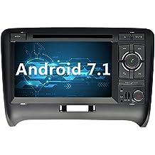 YINUO 7 Pulgadas 2 Din Android 7.1.1 Nougat 2GB RAM Quad Core Pantalla Táctil Reproductor De DVD GPS Navegador Multimedia Radio De Coche Para Audi TT Soporte de Control Del Volante/Bluetooth/ 1080p