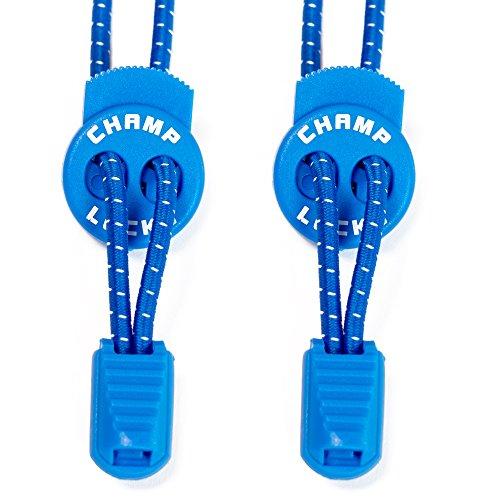 CHAMP LOCKS - Elastische Schnürsenkel mit innovativem Schnellverschluss (1 Paar) - Schnellschnürsystem mit hohem Komfort (Runde Hohe Schnürsenkel Qualität)