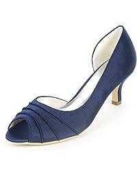 Layearn Zapatos De Boda De Las Mujeres Flores De Los 6cm Bombas De Los Pies En