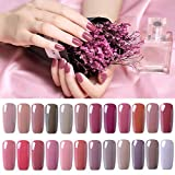 UV Nagellack Gel Nagellack Set Nail Polish Set Soak Off UV LED Gel Nude Farbe Von Fairyglo (24xStück 10ml)