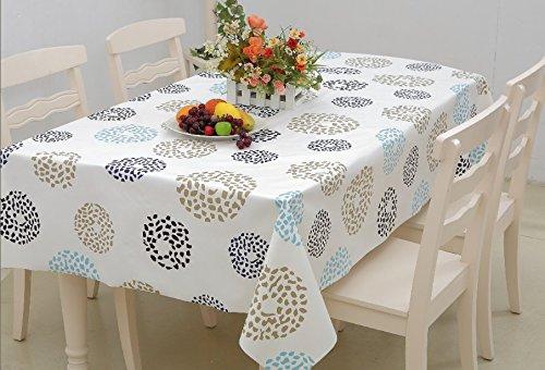 Homcomoda Tovaglia Rettangolare in Plastica Tovaglia Tovaglia da Pranzo per Tavolo da Pranzo 140cm x 180cm