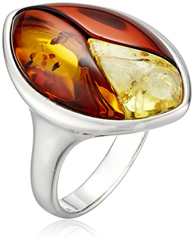 Amazon Multicolor Amber Sterling Silver Inlay Ring Size 7