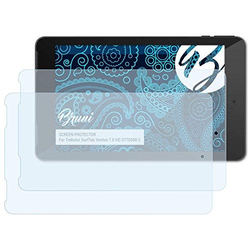 Bruni Schutzfolie kompatibel mit Trekstor SurfTab Ventos 7.0 HD ST70208-2 Folie, glasklare Bildschirmschutzfolie (2X)