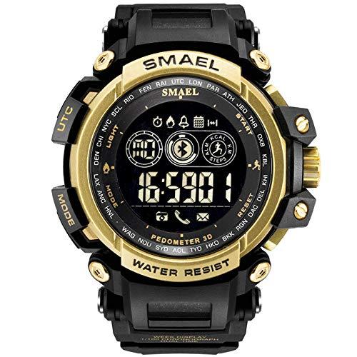 Huacat Herrenuhr Bluetooth Sportuhr Outdoor wasserdichte Elektronische Uhr Uhren FüR Jungen Wasserdicht Sports Digitaluhren Analog Armbanduhr Mit Wecker/Timer/Led-Licht Herrenuhren
