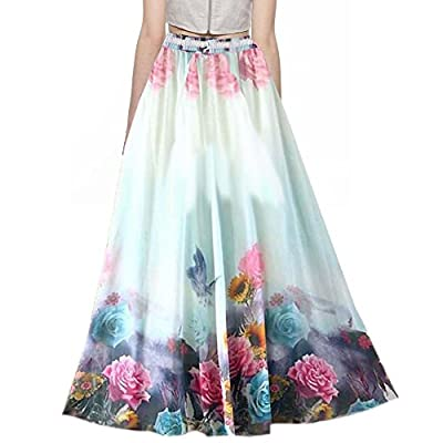 SHOPONBIT Presents royal crepe printed skirt for women's ( Speciality more pankh printed on the skirt color :- multicolor Pattern:- long occasion:- party wear::occasion wear::festival wear::special look Waist Size :- 36 inch